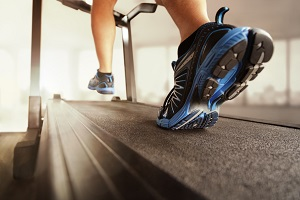 Milwaukee Man Running on Treadmill