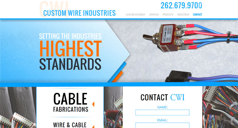 Custom Wire Industries Website