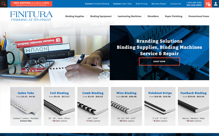 Waukesha supplier of binding equipment and supplies succeeds with iNET's internet marketing and web design