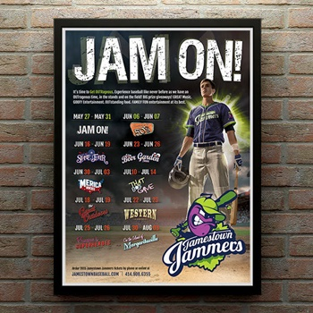 Poster design by iNET Web for baseball team