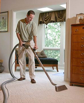 Milwaukee web design depicting AMS carpet cleaning technicians in action!
