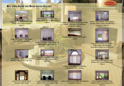Milwaukee web design with customizable photo gallery depicting Bayview's quality shades and blinds!