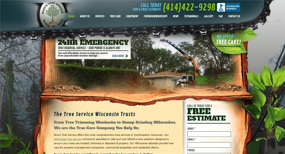 Rust Tree Service Website