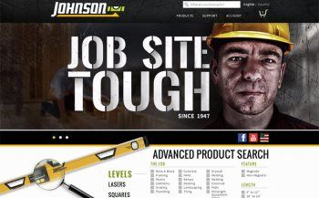 Custom Built Website from iNET-Web for Johnson Level