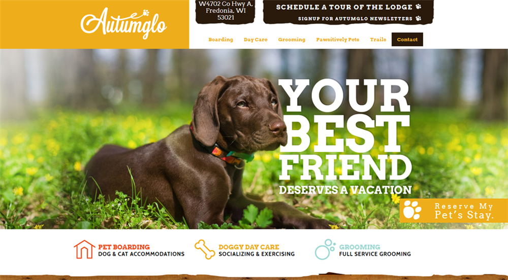 Autumnglo Pet Lodge Home Page Design by iNET Web