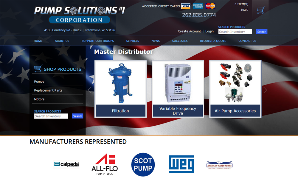Pump Solutions Home Page Designed by iNET Web