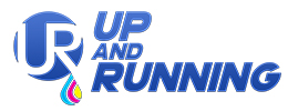 Up And Running logo designed by iNET Web