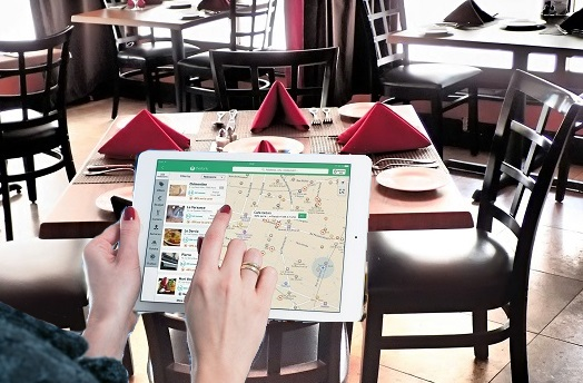 Tablet Search For Restaurant