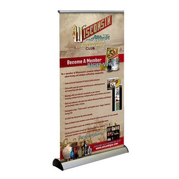 Free standing banner for Wisconsin Antique Advertising Club