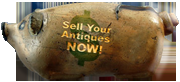 Sell Your Antiques NOW Hermann Figural Pig Bottle