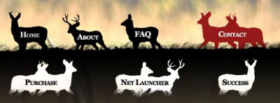 custom deer themed website navigation