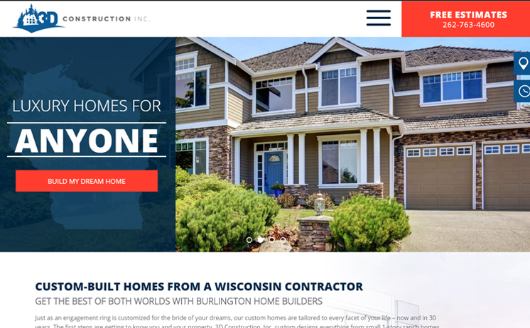 Wisconsin custom home builder prospers with iNET's web design and marketing techniques