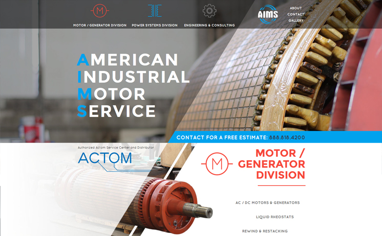 Waukesha graphic designers create custom website for AIMS Power
