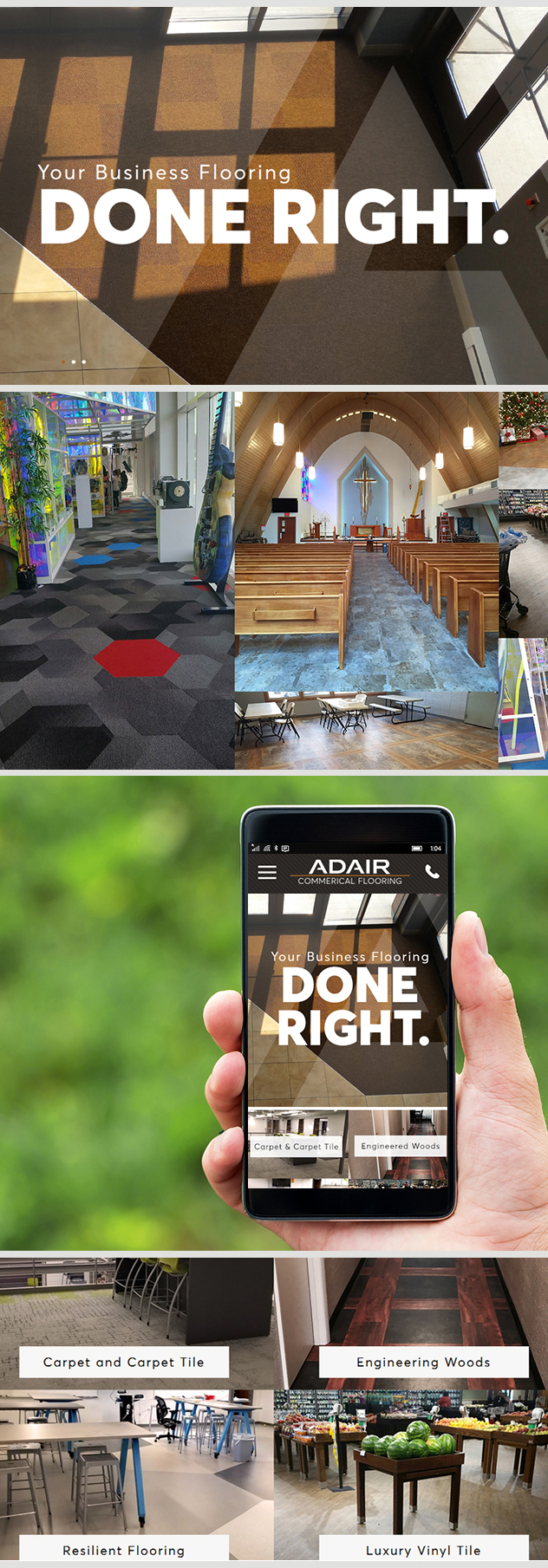Milwaukee web marketing for Adair Commercial Flooring