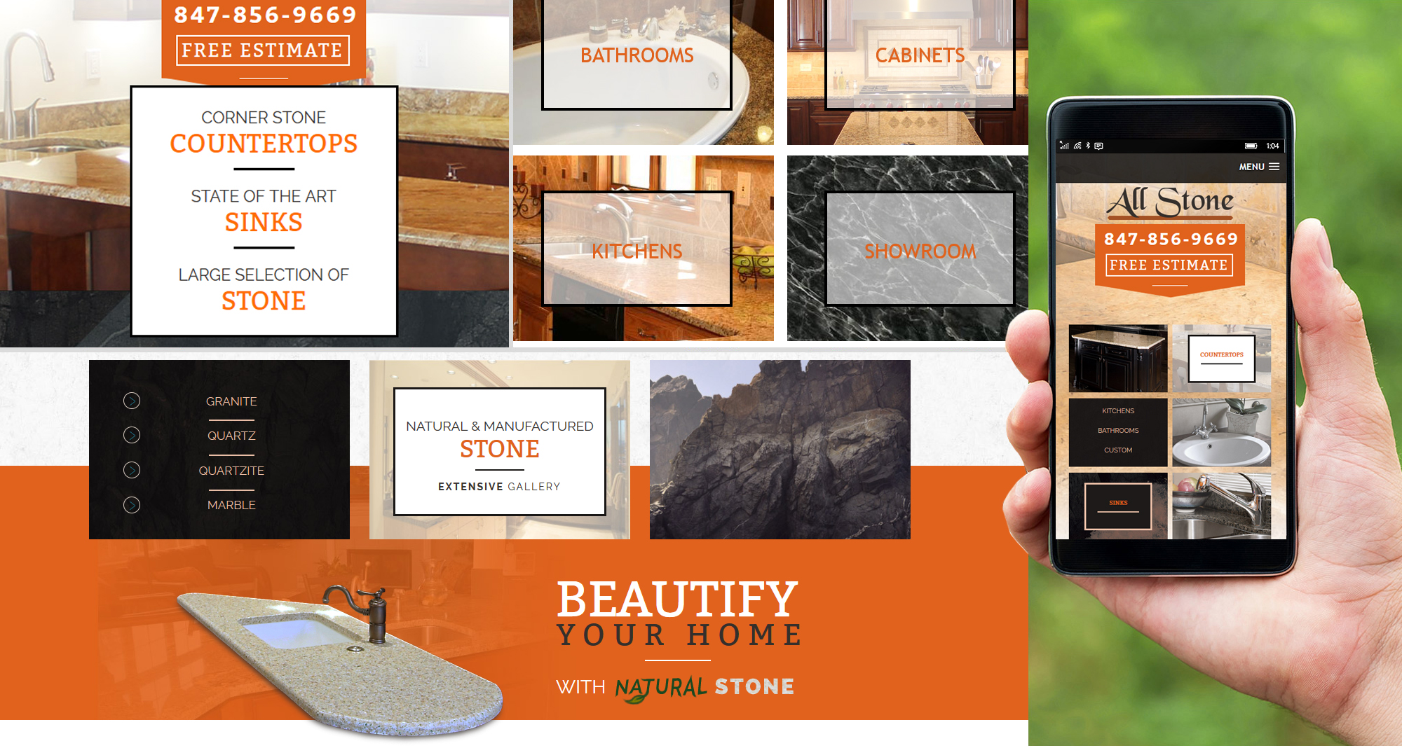 Milwaukee web marketing for All Stone