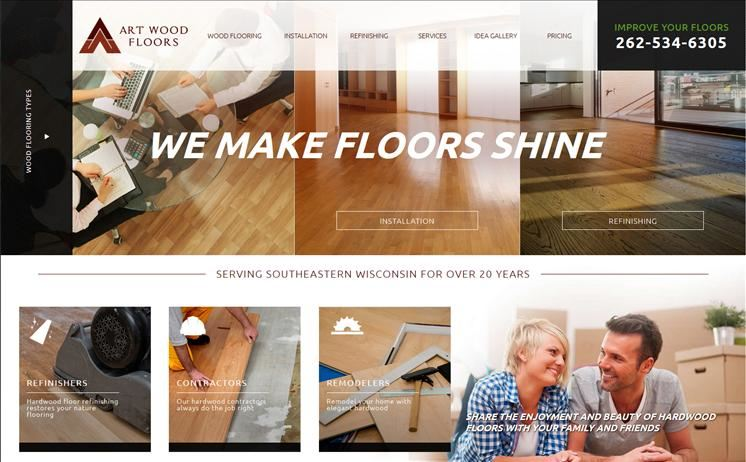 Quality wood floor design, installation, and refinishing from Milwaukee hardwood floor experts