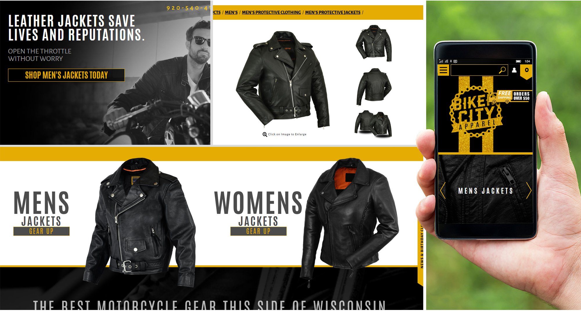 Milwaukee web marketing for Motorcycle Apperal and Gear