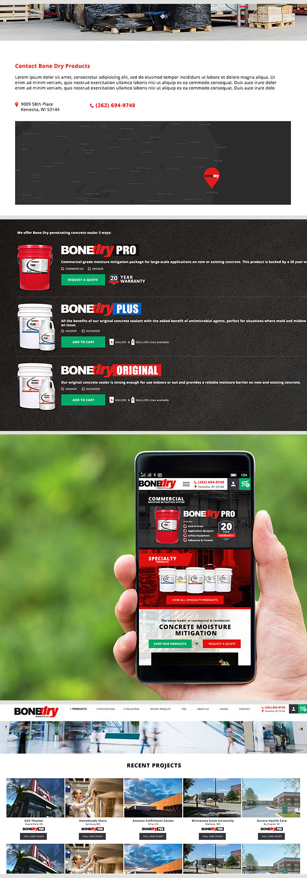 Milwaukee web marketing for Bone Dry Products