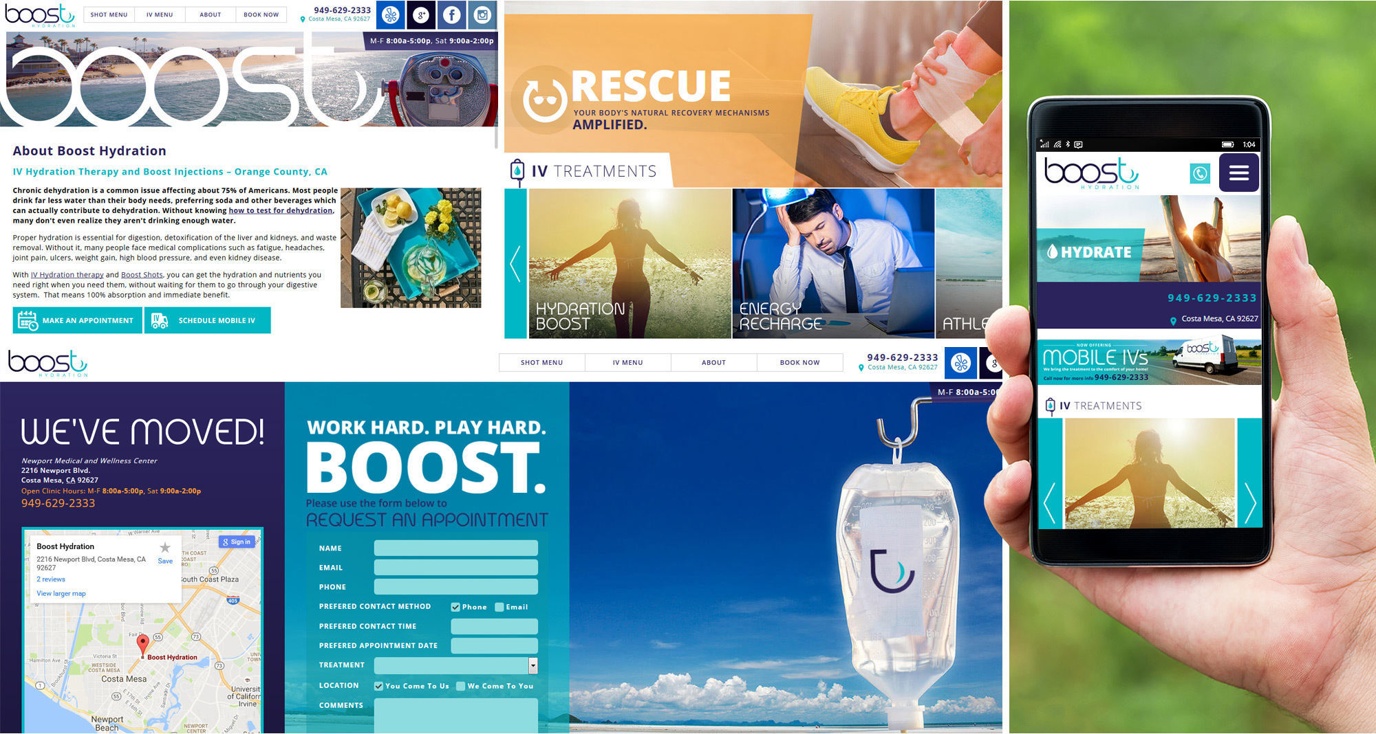 Boost Hydration Website Designed by iNET