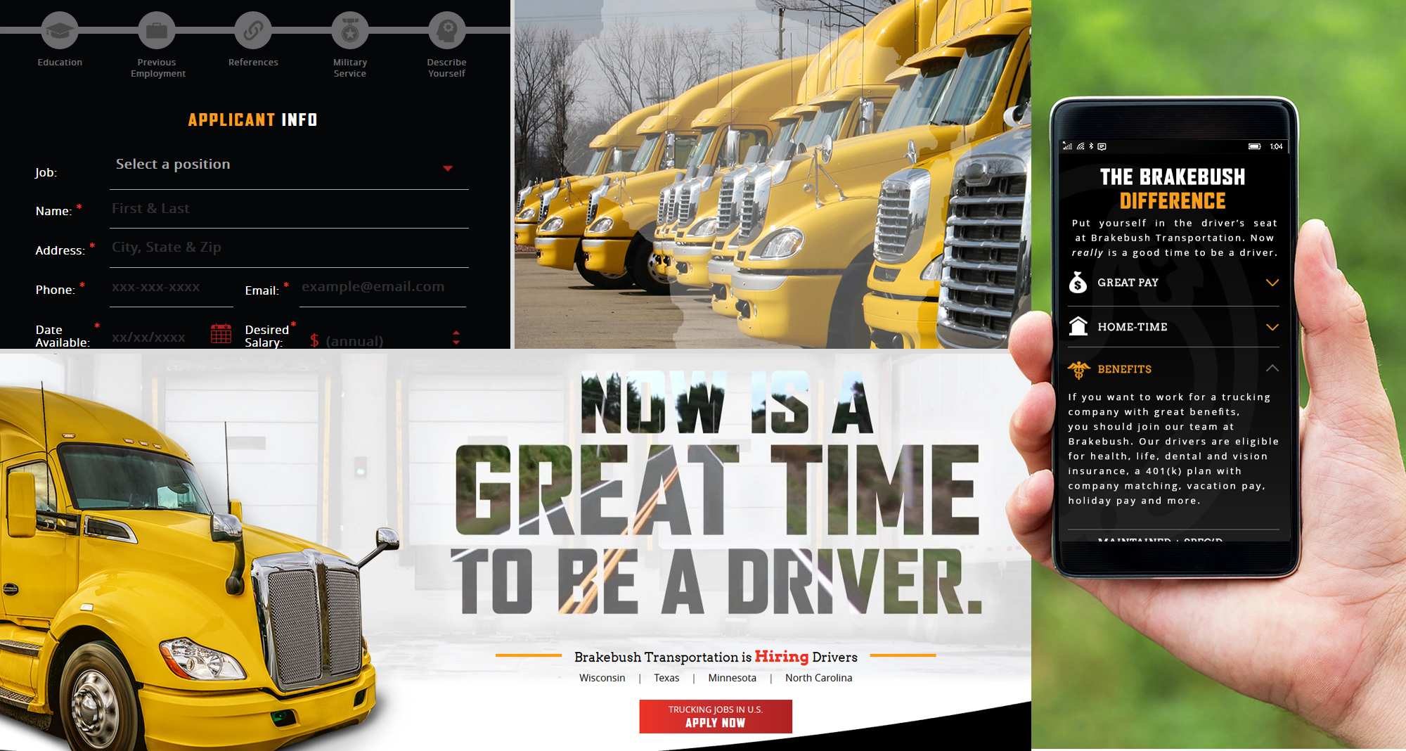 Web Design for Brakebush Transportation