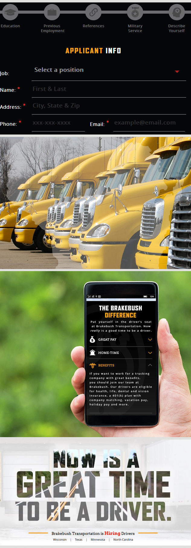 Milwaukee Web Design for Brakebush Transportation