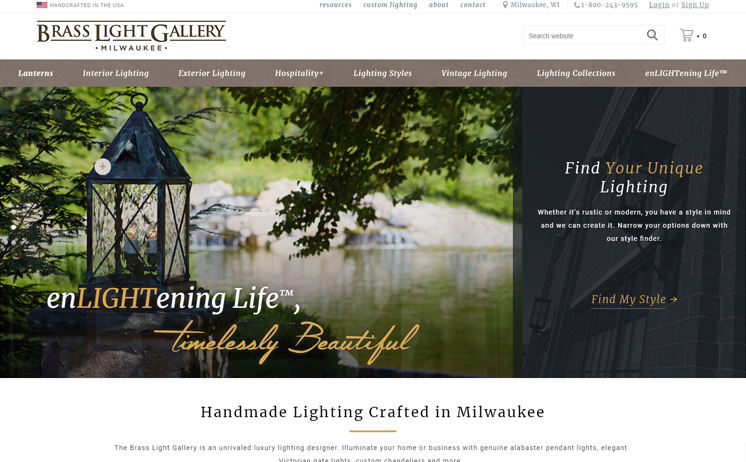 iNET provides a clear view of their client's custom crafted lighting business through colorful, attractive website design and development
