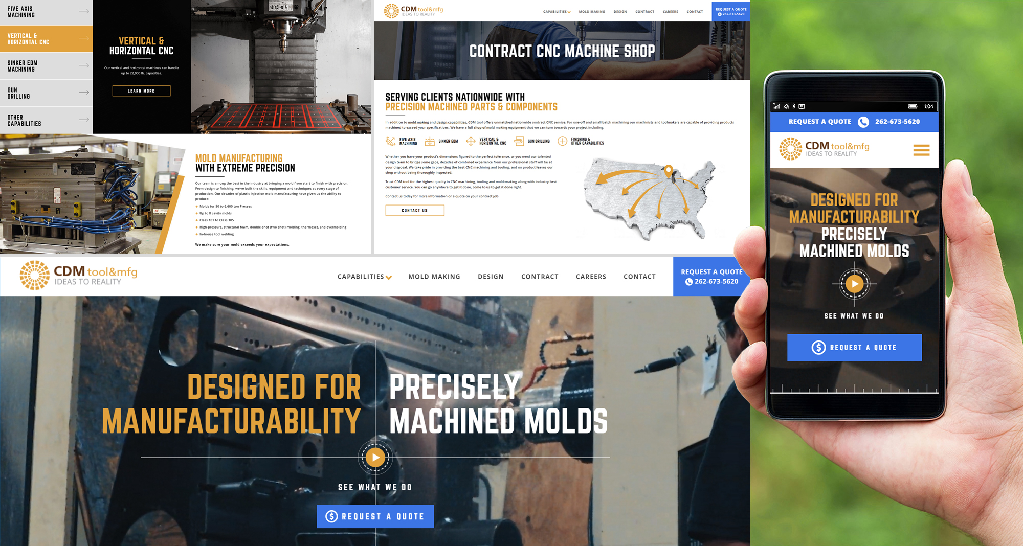 Milwaukee web design and development for CDM Tool & Mfg