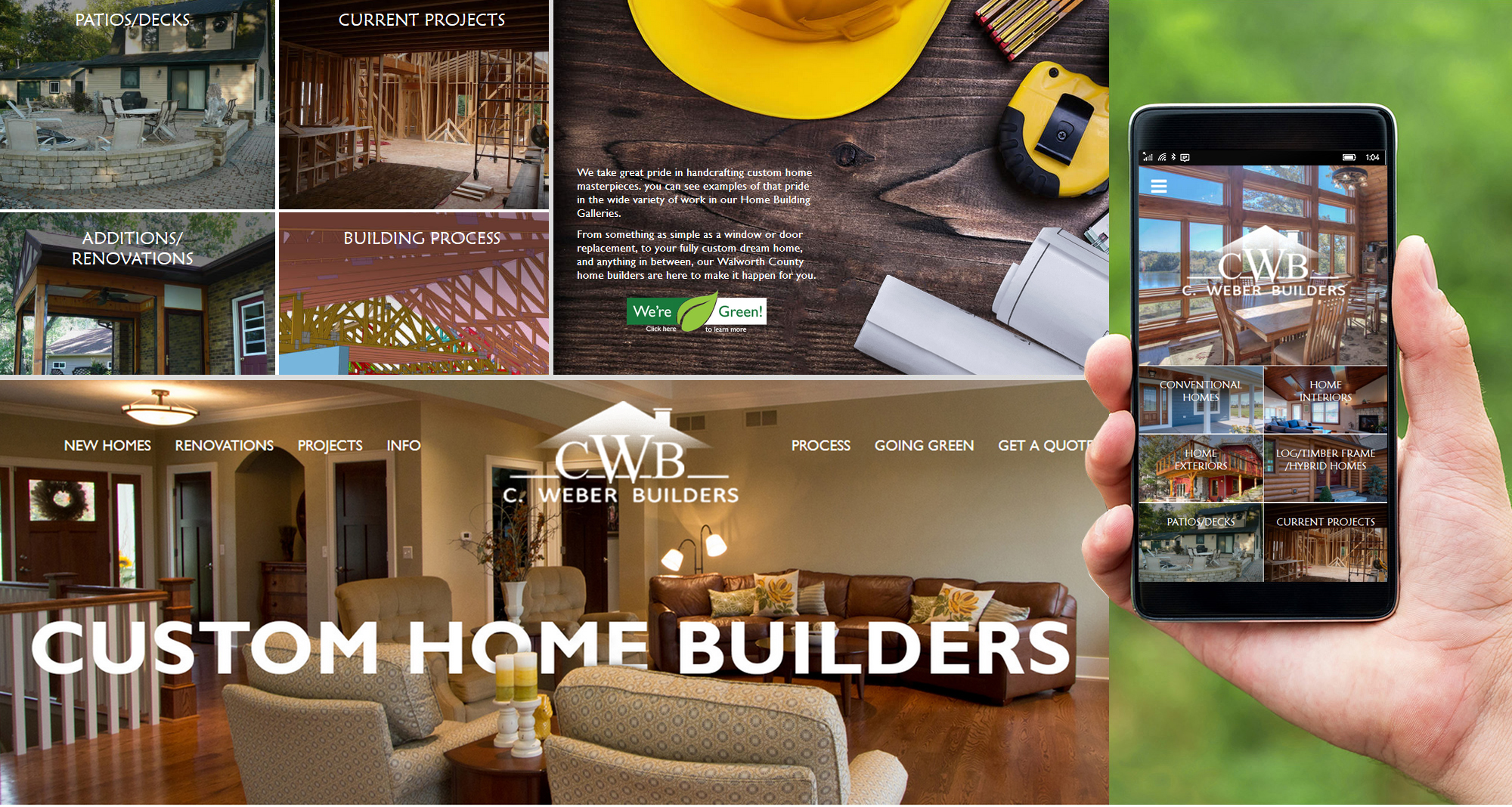 Milwaukee web marketing for C. Weber Builders