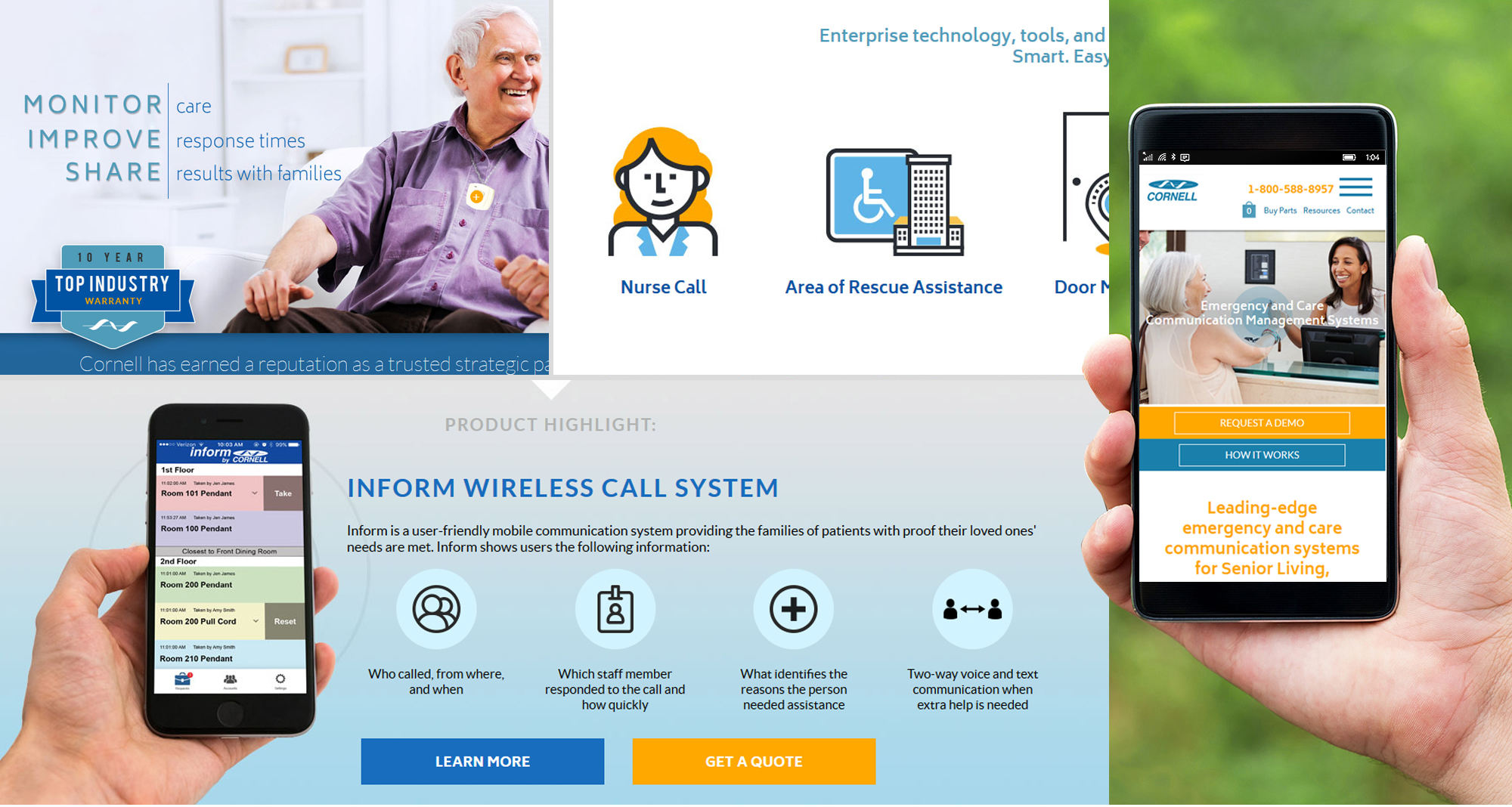 Milwaukee web marketing for Emergency and Care Communication System Supplier
