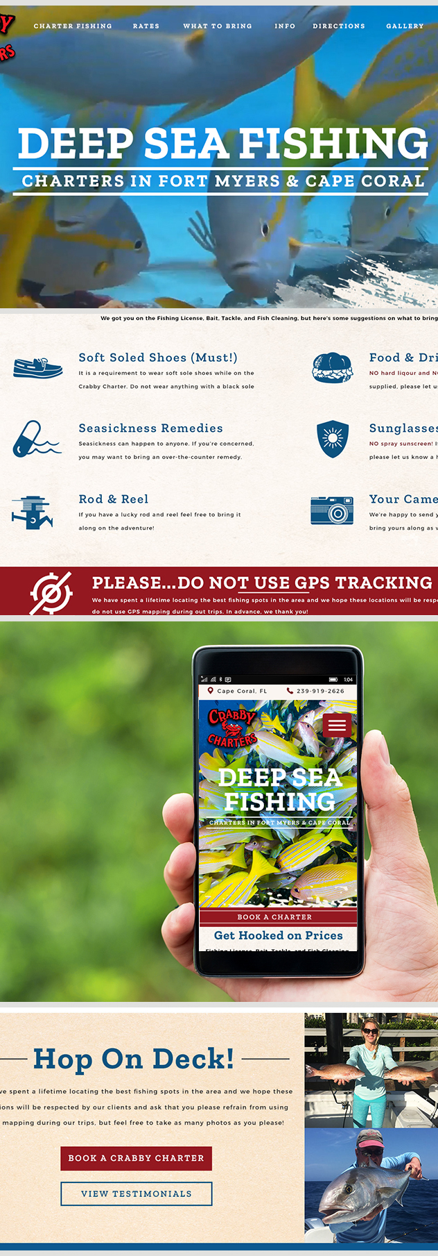 Milwaukee web marketing for Crabby Charters