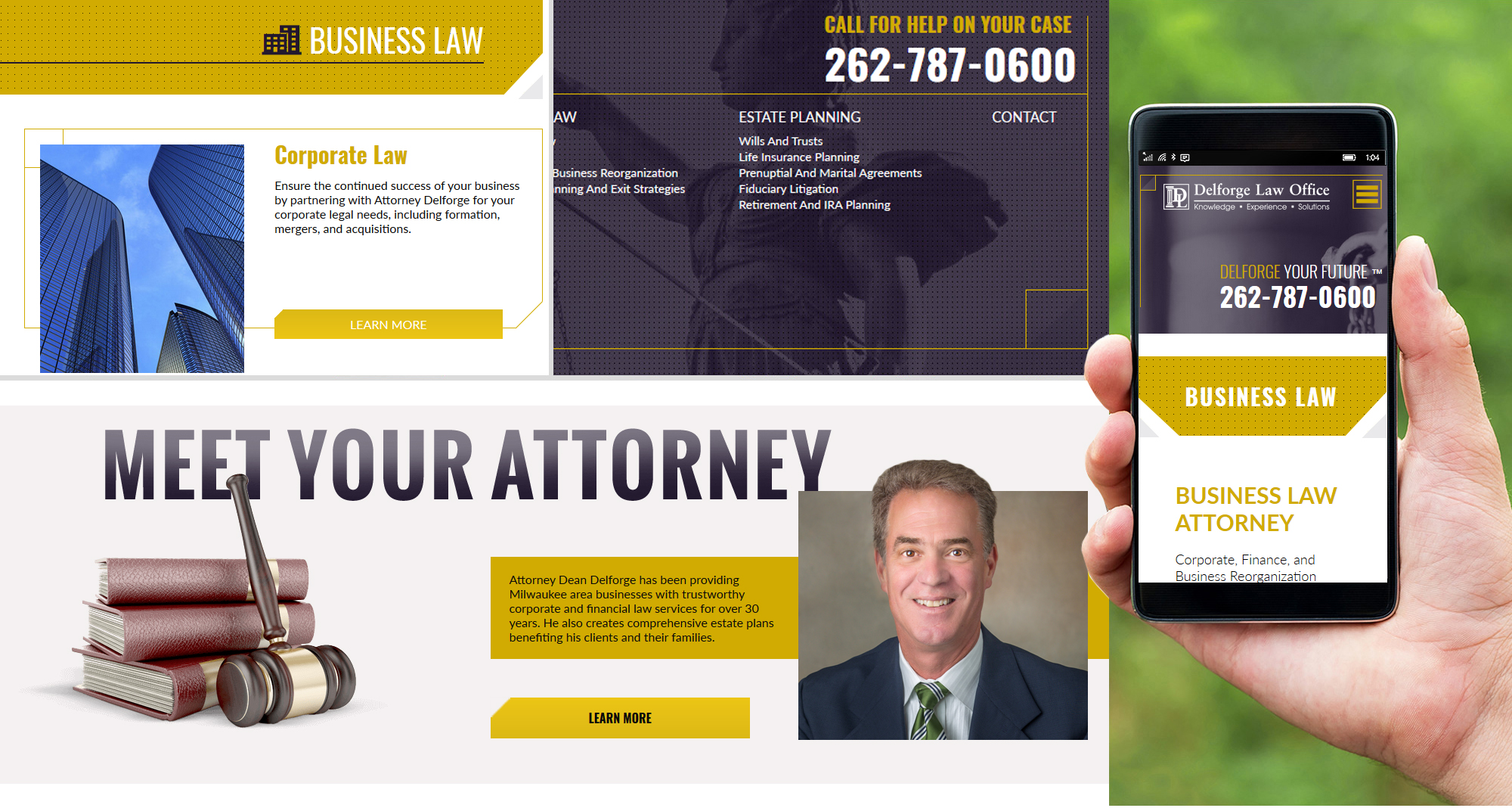 Milwaukee web marketing for Delforge Law Office