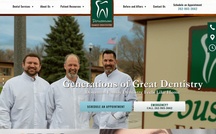 iNET crafts professional website marketing strategies for Dousman dentists