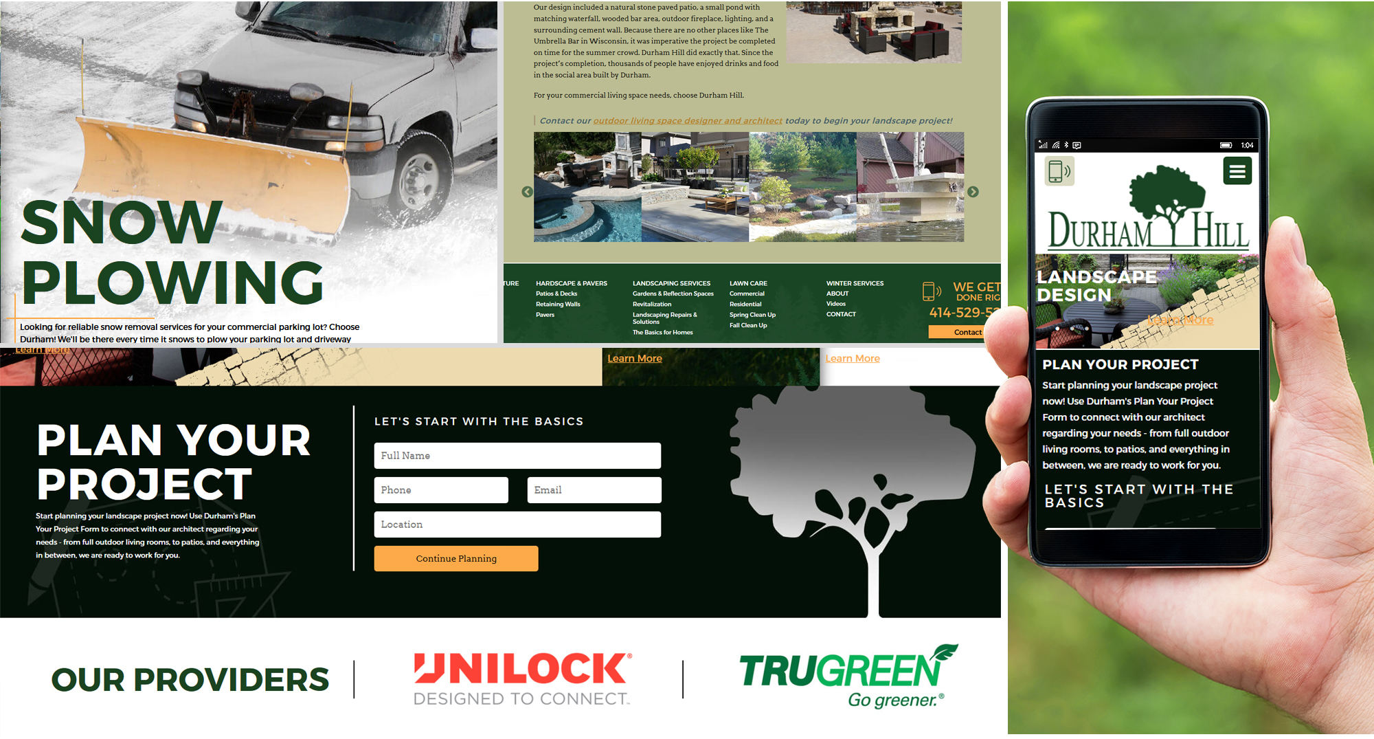 Milwaukee Web Design for Landscapers