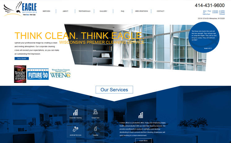 Milwaukee area businesses for janitorial and corporate cleaning services thrive with iNET's marketing specialists