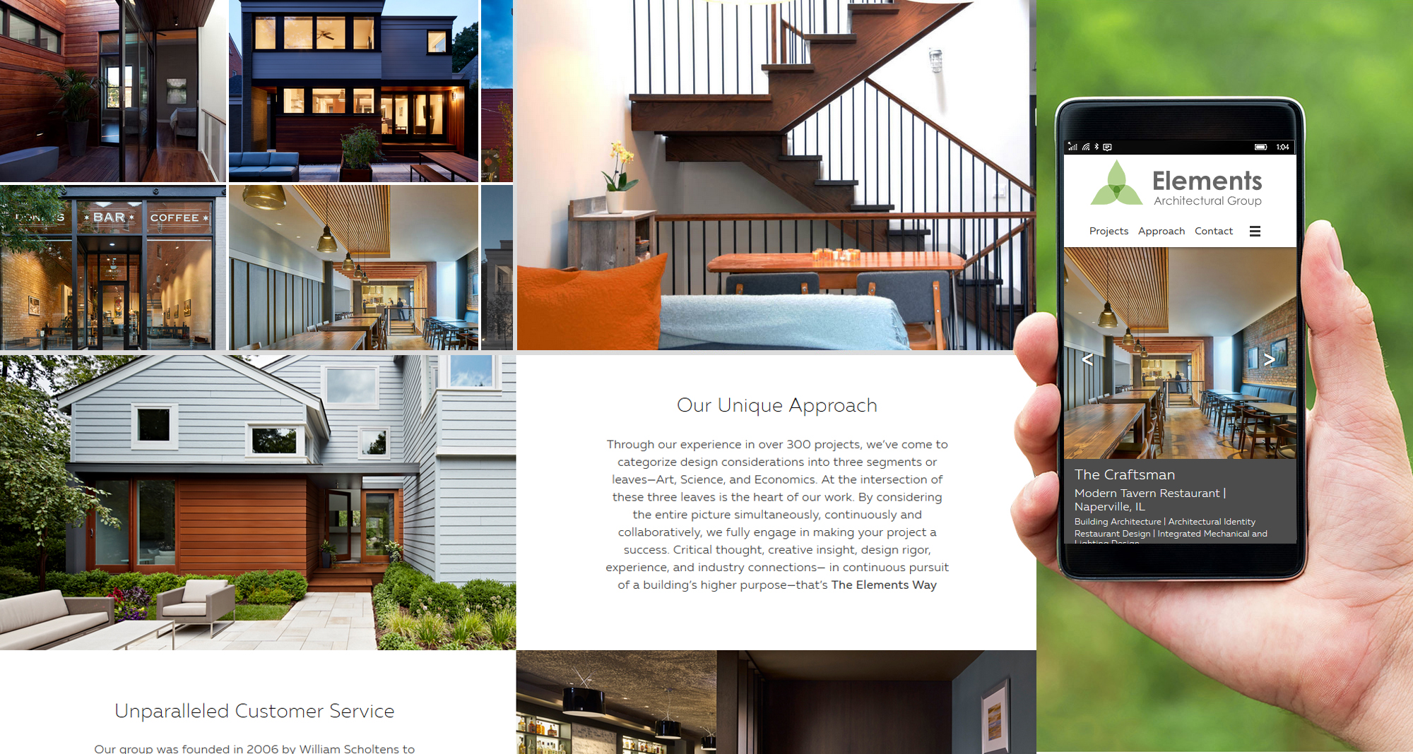 Milwaukee web marketing for Elements Architectural Group