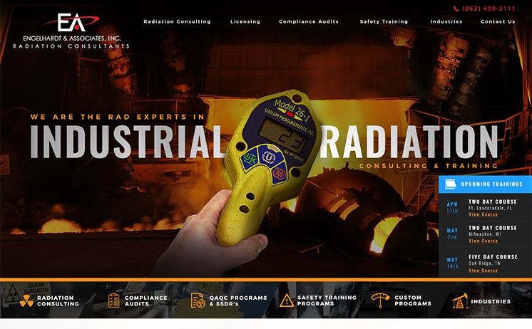 Waukesha industrial radition consulting and training company succeeds with iNET's creative web design and programming
