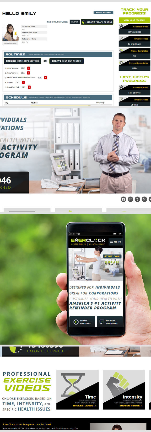 Custom Work Fitness Website Designed by iNET