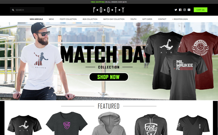 Milwaukee premier soccer apperal company supplying customers with quality shirts, hoodies, hats and legging with iNET's creative gnius website