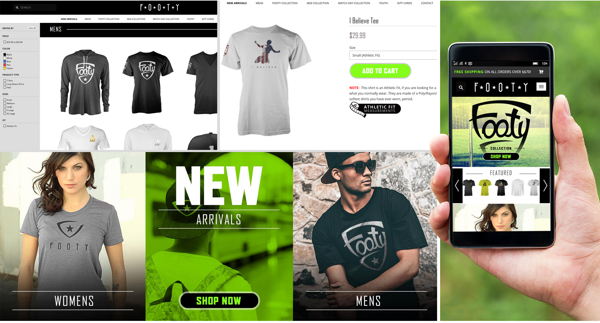 Milwaukee web marketing for Footy Brand