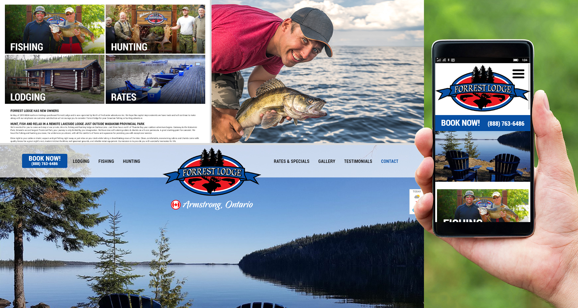 Milwaukee web design and development for Forrest Lodge