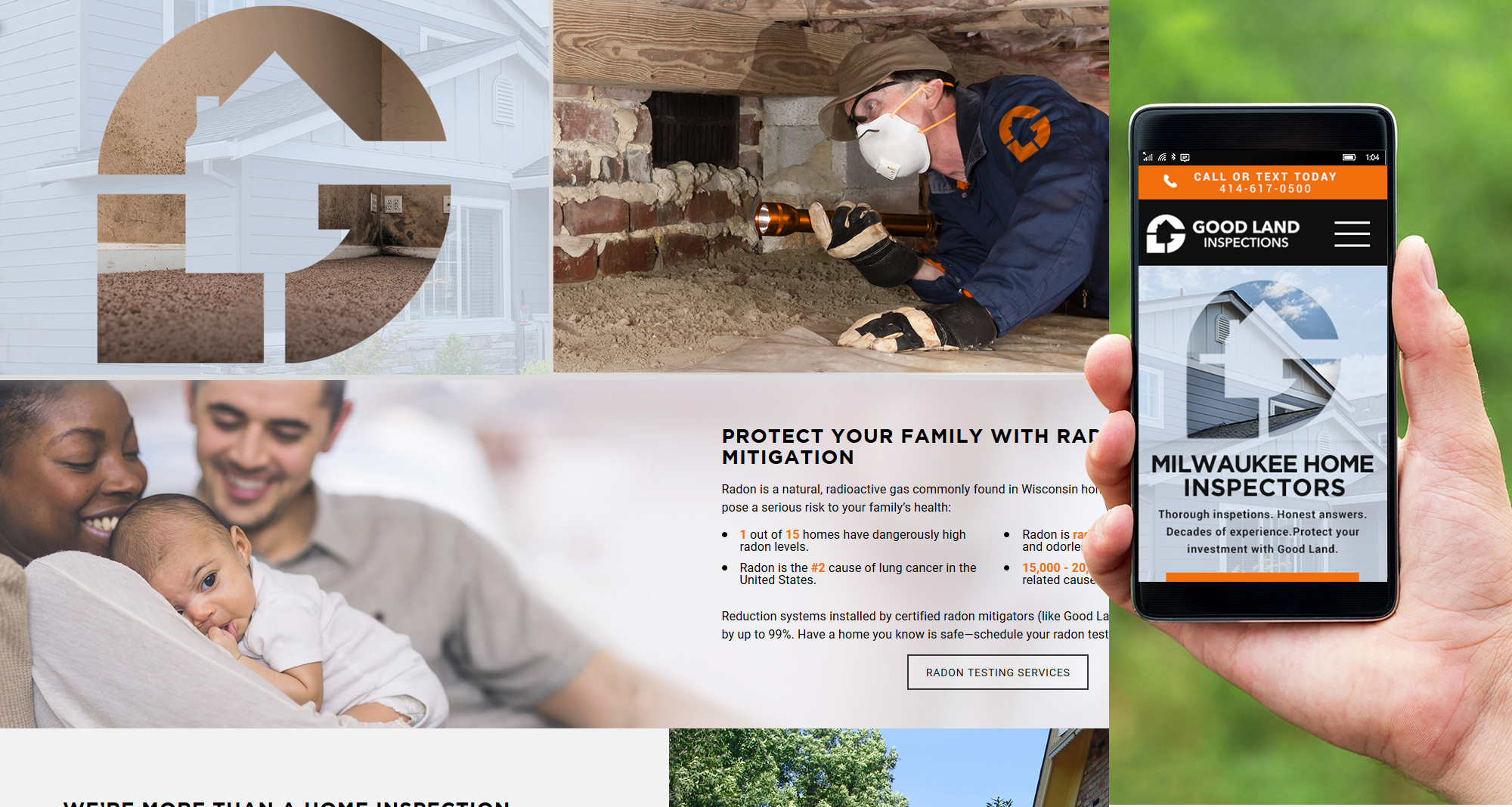 Milwaukee web marketing for Good Land Home Inspections