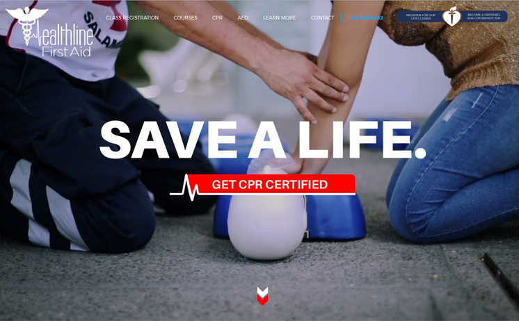 Waukesha website design and development with user friendly navigation for CPR Training Company