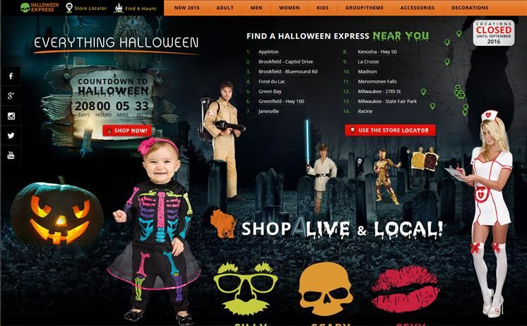 Waukesha area Halloween costume shop reaps the benefits of iNETu0027s creative genius in website development  sc 1 st  iNET Web & My Halloween Expressu0027 Web Developer | Costumes and Accessories ...