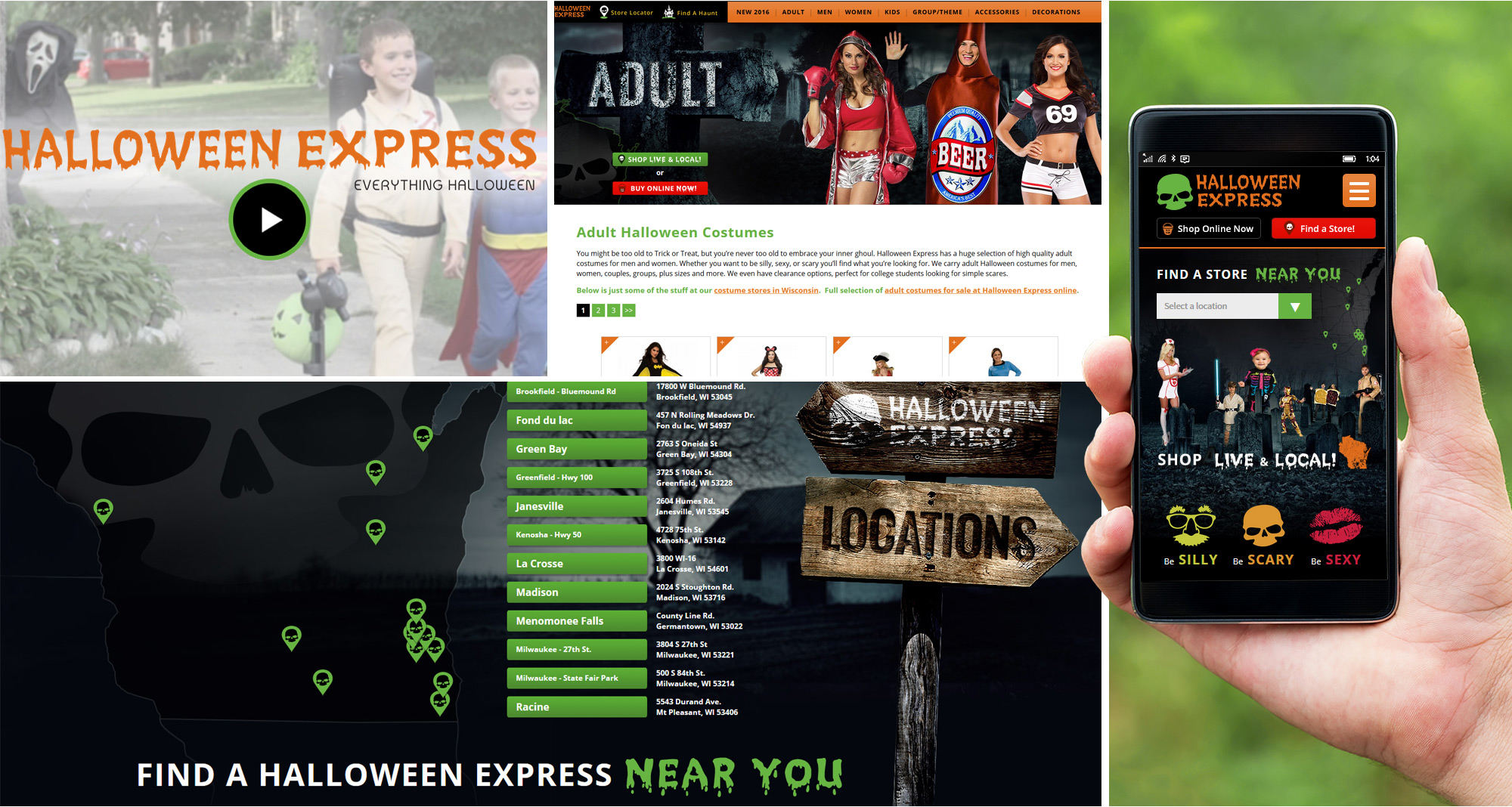 Halloween Costume Site Design by iNET