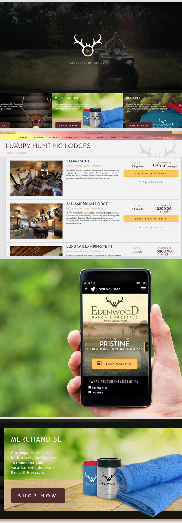 Wisconsin Luxury Resort Website by iNET