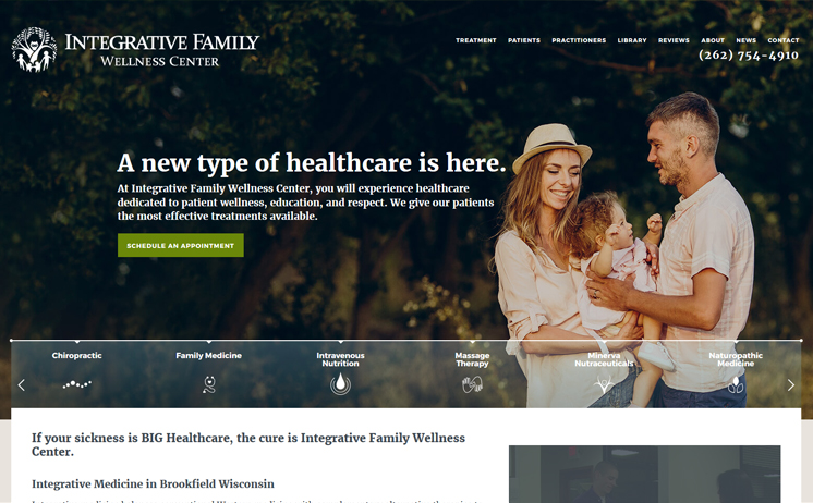 Family Wellness Center gains healthy results with iNET'S website design experts