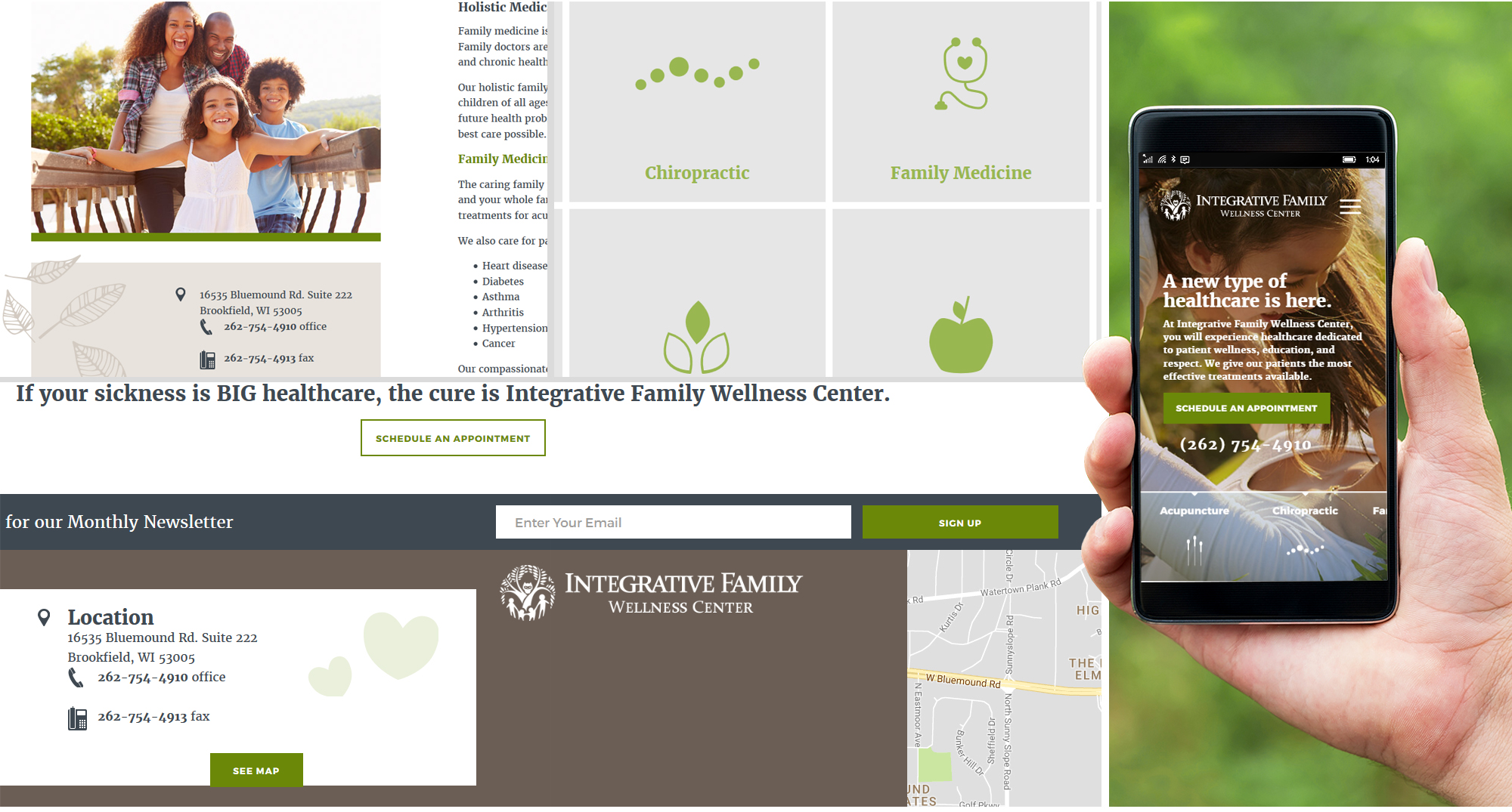 Milwaukee web marketing for Family Wellness Center