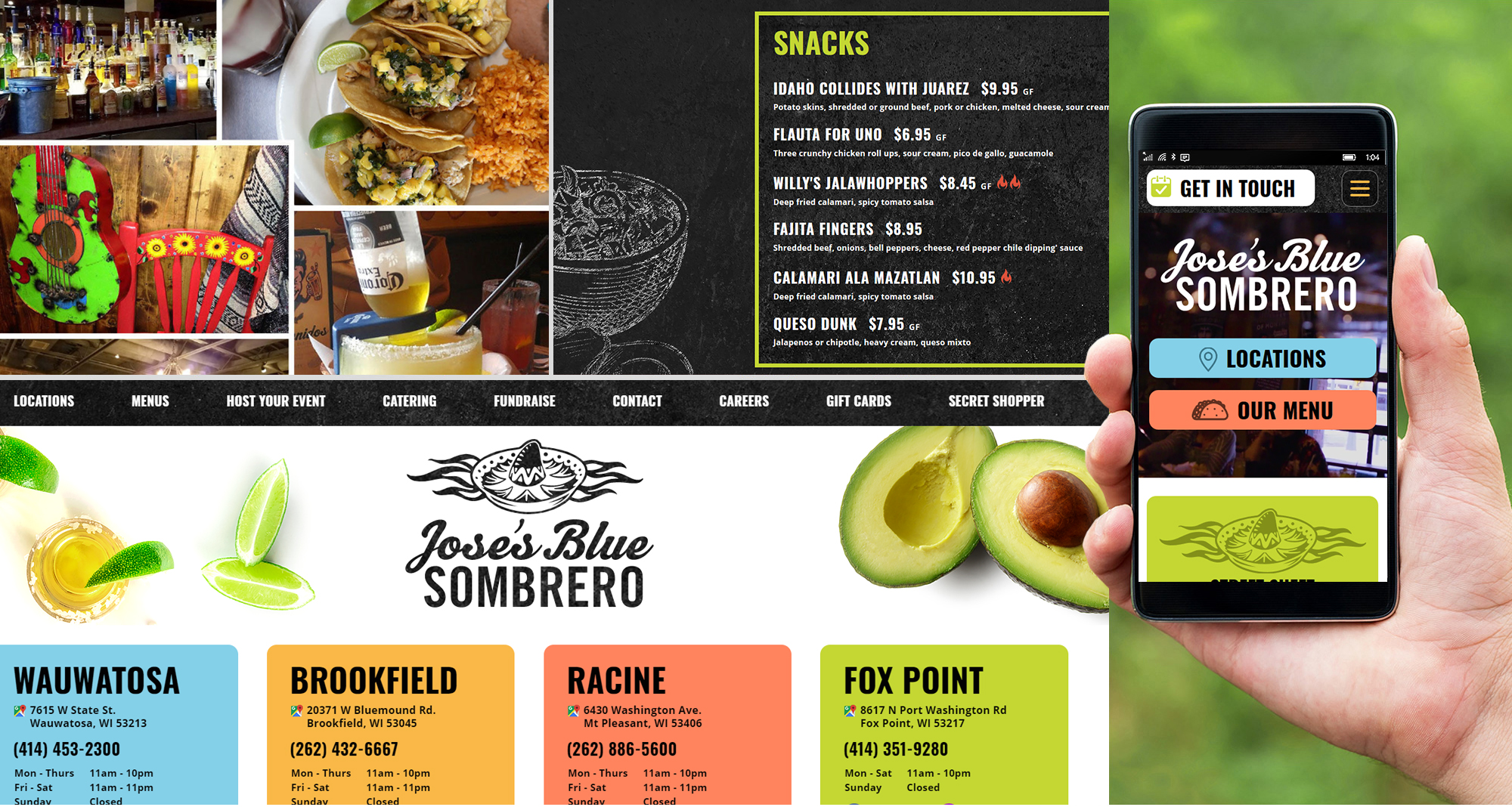 Waukesha Web Developer for Mexican Restaurant