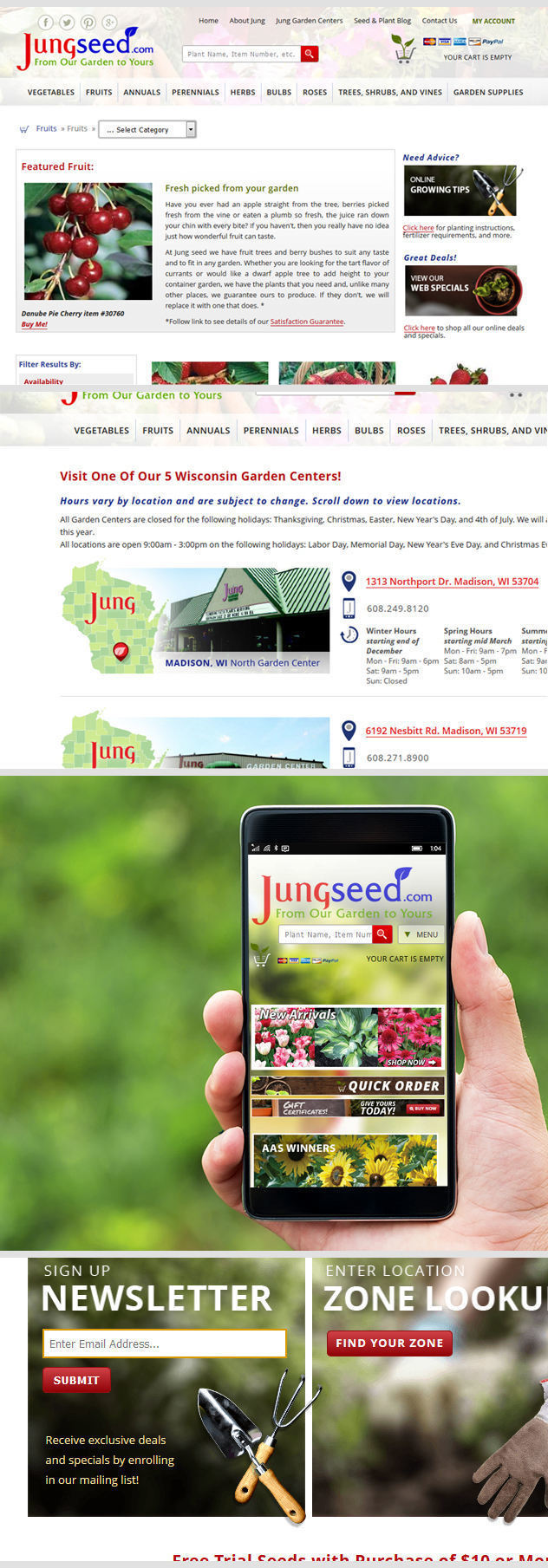 Jungseed Ecommerce Site by iNET-Web