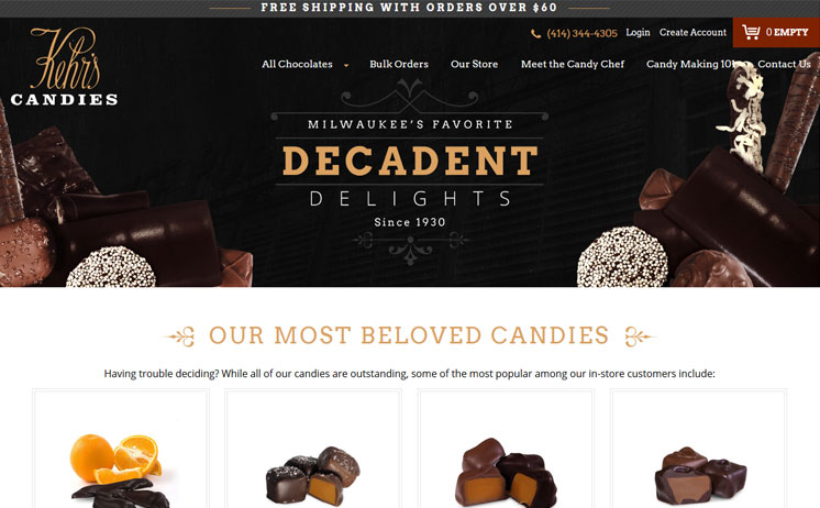 Milwaukee Handmade Fine Chocolate business succeeds with iNET website design and development